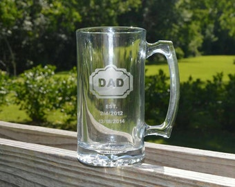 Personalized 20 oz Beer Mugs