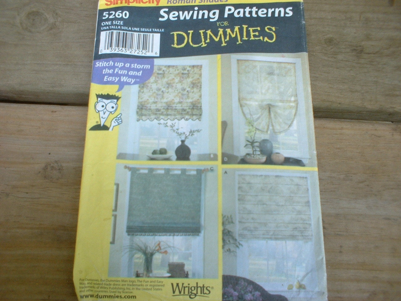 Simplicity roman shades sewing patterns for dummies from for Koi ponds for dummies