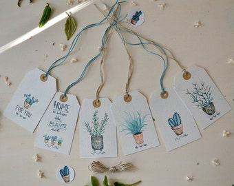 Gift Tag Set - Houseplants