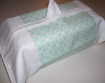 TISSU BOX COVERS - aqua tissue box ocvers - geometric tissue box covers - geometric home decor - geometric covers - geometric home decor