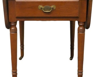 STATTON TruType Americana Solid Cherry Drop Leaf Pembroke End Table 1260