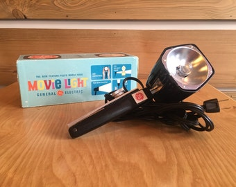 General Electric Mardi Gras Movie Light with Original Packaging| In Working Condition: 1970s
