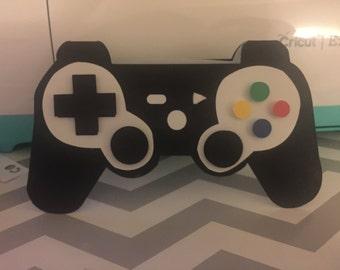 Playstation controller birthday card