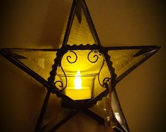 Rustic Star Candle Holder
