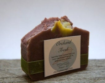 Orchard Fresh- Handmade Vegan Cold Process Soap - Gift Soap - Chickadee Soaps