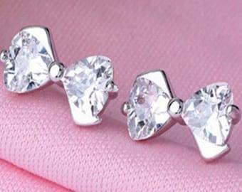 Crystal Bow Tie Earrings