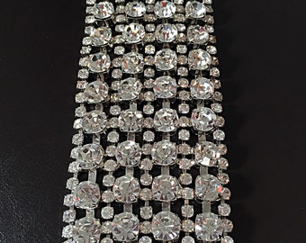 50% OFF SALE! Hollywood Bracelet with Genuine Austrian Swarovski Crystals and Palladium Plating. High Quality Unique Bracelet.