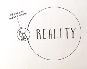 "Personal World View | 8x10"" Print | Made by Jimbob Original Art"