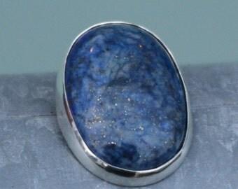 Silver Pendant lapis lazuli, handmade