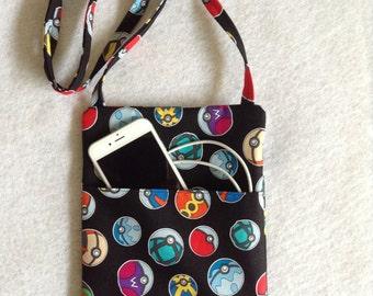 Pokemon Crossbody Purse, sling purse, small purse, travel purse, PB, Pokemon bag, messenger bag