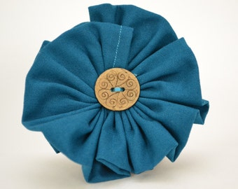 Turquois/Blue Flower Scarf Accessory