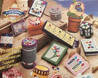 Treasure Boxes-Vintage Plastic Canvas Pattern Book