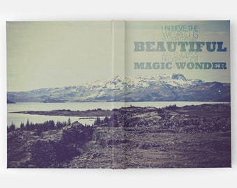 Ansel Adams Icelandic Mountain Landscape Quote Travel Journal / Notebook / Diary