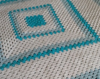 Crochet Baby Blanket, Baby Blanket, Crochet Afghan Blanket  Blanket, Granny Square Blanket, Baby Shower Gift,  Ready to Ship