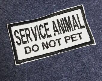 Service Animal - Do Not Pet 1.75x3.75