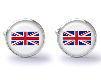 Union Jack Cufflinks - UK Flag Cufflinks - Union Jack Flag Cuff Links (Pair) Lifetime Guarantee (S0285)