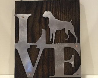 Wall Art- Boxer Love Silhouette