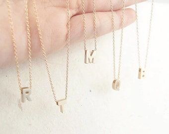 Perfect gift! gold or silver letter necklace- choose your letter!