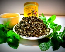 Healthy Herbal Infusion Lemon Balm Melissa Officinalis Calming Relaxing Mood Enhancing Tea Tisane Gift Wrapped Wedding Favour Perfect Pressy