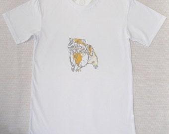 Raccoon T-shirt-100 percent organic cotton, made in Australia, sweatshop-free