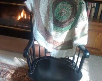 Handmade Crocheted Round Afghan