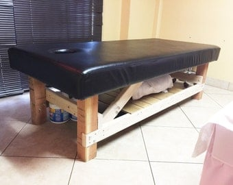 Massage wooden bed