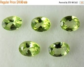 Friendship Day Sale 5 Pieces Lot!!!! Natural Peridot Loose Faceted Gemstone 4x5mm Oval ,Top Quality Gemstone,Approx..(1.65 Cts)
