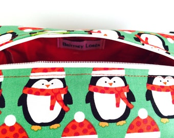 Penguin Holiday Cosmetic Bag