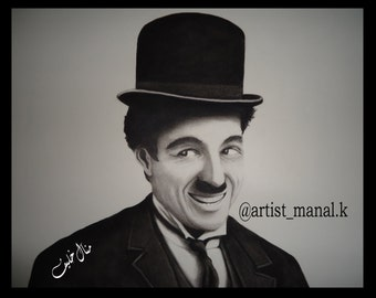 Portrait for (Charlie Chaplin), Original Painting