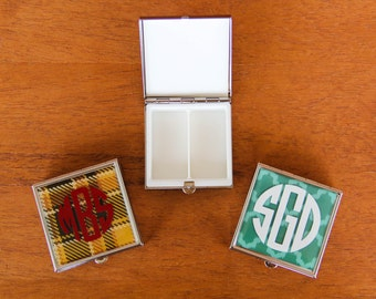 Monogrammed Pill Box