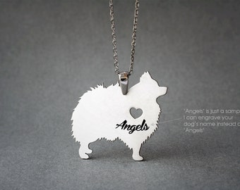POMERANIAN NAME Necklace - POMERANIAN Jewelry - Personalised Necklace - Dog breed Necklace - Dog Necklace