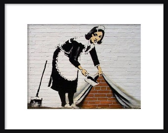 Maid In London - Banksy - Graffiti Art - Street art – Print - Poster