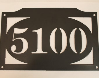 House numbers- metal sign