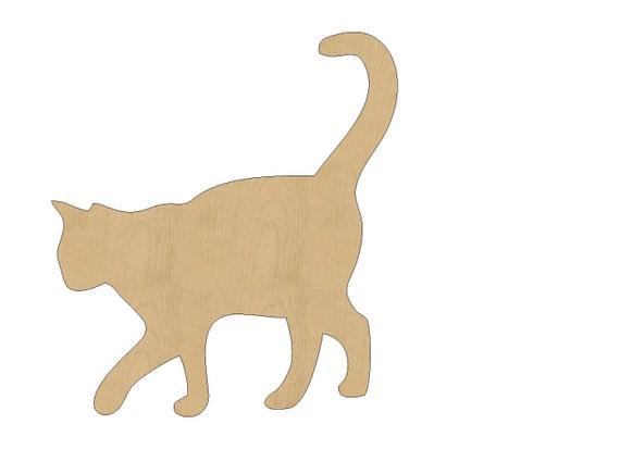 Cat Cutout Shape Laser Cut Unfinished Wood Shapes Craft