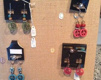 EMBella Design: Choice of Peace Bead Dangle Earrings