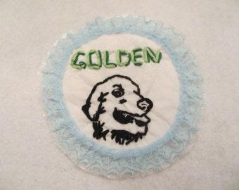 Golden Retriever iron on patch