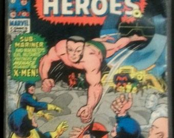 1969 Marvel Super-Heroes #25  The Hulk , Sub-Mariner, Daredevil, Magneto, X-Men - Fair-Good Condition  Vintage Stan Lee Marvel Comic Book