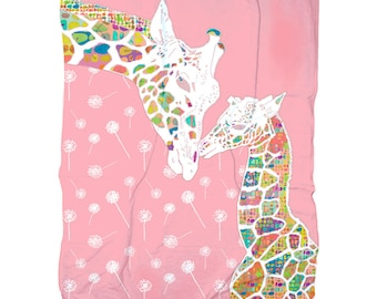 baby girl blanket Giraffe Blanket animal blanket girl baby nursery bedding giraffe bedding pink Blanket nursery blanket soft baby blanket