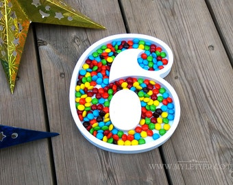 Number Candy Dishes  - Birthdays number dishes - Dish numbers - Candy Dishes