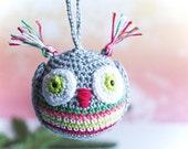 Crochet Christmas Christmas bauble. Crochet owl. Crochet Christmas Decoration. Christmas ball. Christmas balls