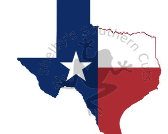 State of Texas Flag SVG file