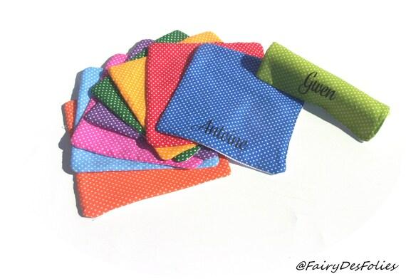 Serviette colorée avec prénom