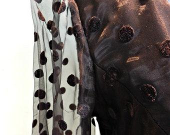 Vintage black Berkertex chiffon and velvet evening dress