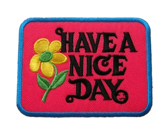 Have A Nice Day DIY Applique Iron on Patch