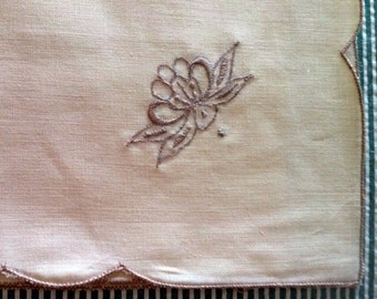 Vintage Table Napkins, cream