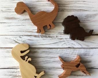 Wood Dinosaurs - set of 4