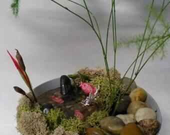 Mini Pond Scenes - Choose: Deer, Duck, Turtle or Fish