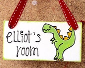 Dinosaur Bedroom Door Sig...