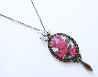 Rose Cameo Necklace CO074