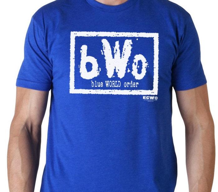 Bwo blue world order t shirt nwo nwo logo by for Order shirts with logo